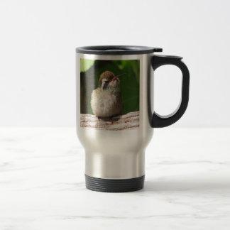 White-eared Hummingbird Travel Mug, right-handled 15 Oz Stainless Steel Travel Mug