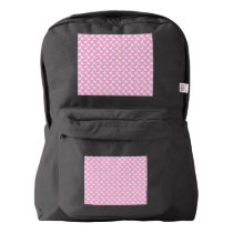 White Easter Bunnies on Pink Backpack