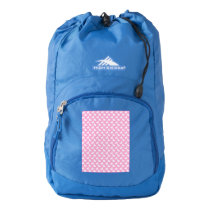 White Easter Bunnies on Pink High Sierra Backpack