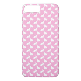 White Easter Bunnies on Pink iPhone 7 Plus Case