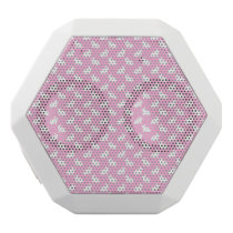 White Easter Bunnies on Pink White Bluetooth Speaker