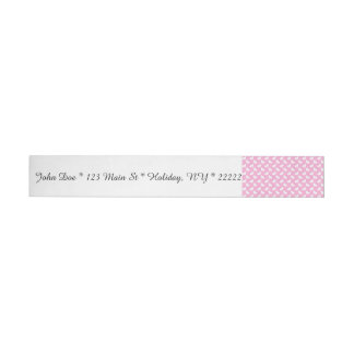 White Easter Bunnies on Pink Wrap Around Address Label