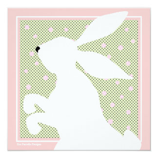 White Easter Bunny Brunch Invitation