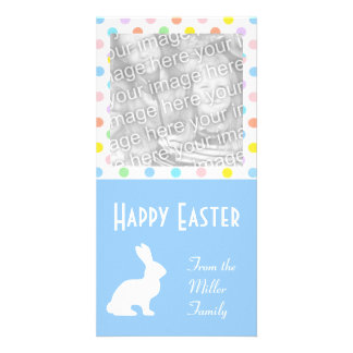 White Easter Bunny Card