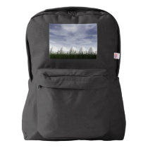 White easter eggs in nature - 3D render American Apparel™ Backpack