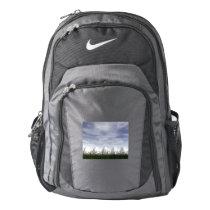 White easter eggs in nature - 3D render Nike Backpack