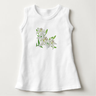 White Easter Lilies Dress