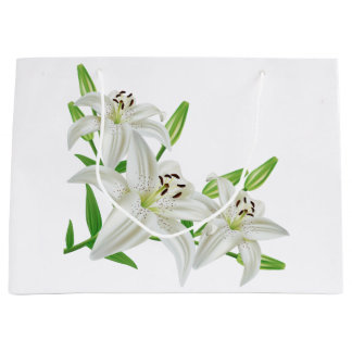 Easter lily gift bags zazzle white easter lilies large gift bag negle Choice Image