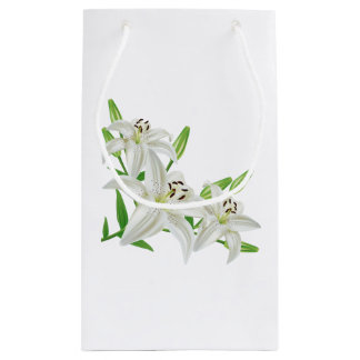 Easter lily gift bags zazzle white easter lilies small gift bag negle Choice Image