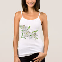 White Easter Lilies Tank Top