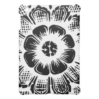 White Eastern Flower iPad Mini Cases