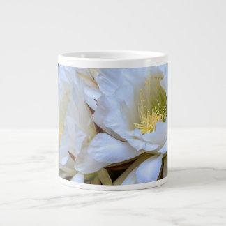 White Echinopsis Cactus Blooms - Jumbo Mug