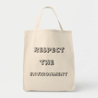 White ecological bag