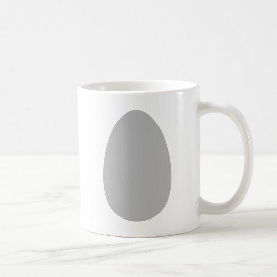 white egg coffee mug