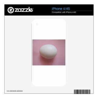 White Egg Decals For iPhone 4S
