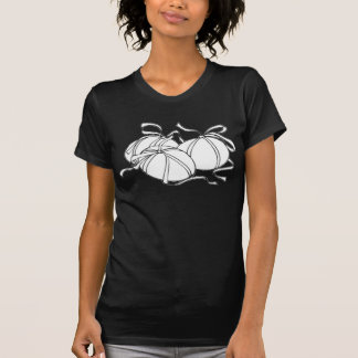 White Eggs and Ribbons black t shirt
