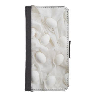 White eggs wallet phone case for iPhone SE/5/5s
