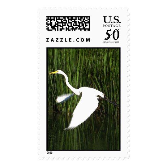 White Egret 2 Postage