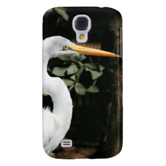 White Egret Case for iPhone 3G 3GS Galaxy S4 Covers