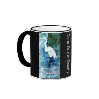 White Egret Done Tai Chi today? Ringer Mug