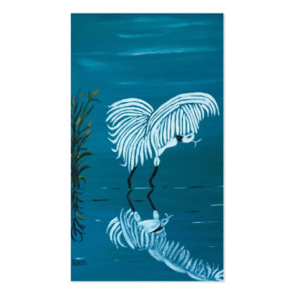 WHITE EGRET Double-Sided STANDARD BUSINESS CARDS (Pack OF 100)