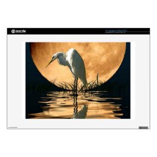 "White Egret Fantasy Wildlife Art Device Skin 15"" Laptop Decal"