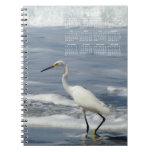 White Egret Fishing; 2012 Calendar Notebook