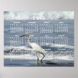 White Egret Fishing; 2012 Calendar Poster