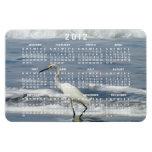 White Egret Fishing; 2012 Calendar Vinyl Magnet