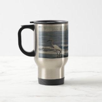 White Egret Fishing 15 Oz Stainless Steel Travel Mug