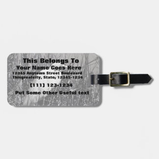 White Egret in reeds bw Luggage Tag