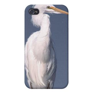 White Egret & Moon Wildlife iPhone Cases