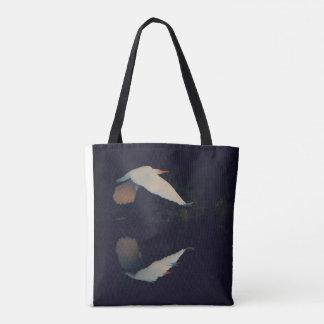 White Egret on a mission Tote Bag