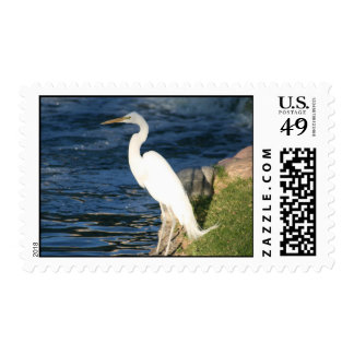 White Egret Stamp