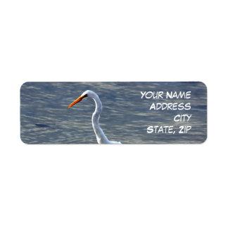 White Egret return Address Labels