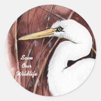 White Egret sticker