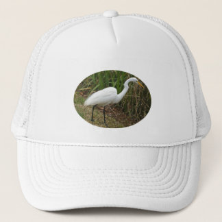 White Egret Trucker Hat