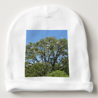 White Egrets in a Tree Baby Beanie