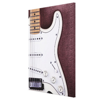 White Electric Guitar 2 Canvas Print