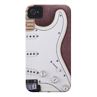 White Electric Guitar 2 Case-Mate iPhone 4 Case