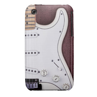 White Electric Guitar 2 iPhone 3 Cases