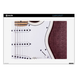 """White Electric Guitar 2 Decals For 15"""" Laptops"""