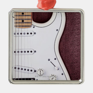 White Electric Guitar 2 Ornaments