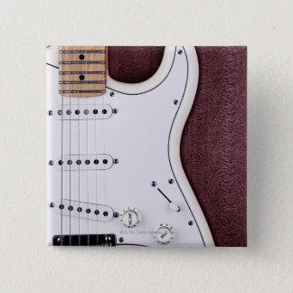 White Electric Guitar 2 Pinback Button