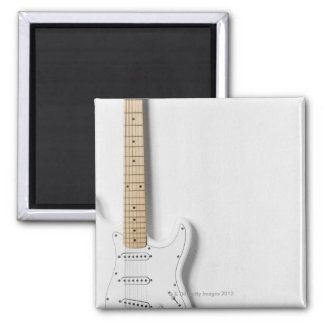 White Electric Guitar 3 Magnet