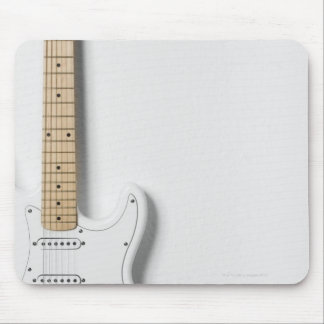 White Electric Guitar 3 Mouse Pad