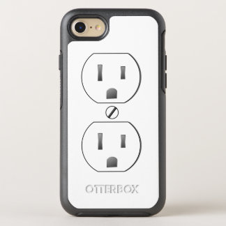 White Electric Outlet OtterBox Symmetry iPhone 7 Case