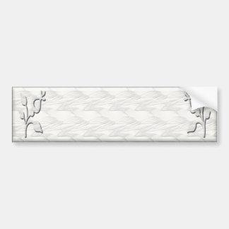 White Elegance #1 Bumper Stickers