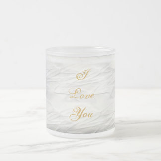 White Elegance #1 Frosted Glass Coffee Mug