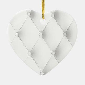 white elegant chic leather art deco cafe pattern christmas tree ornament